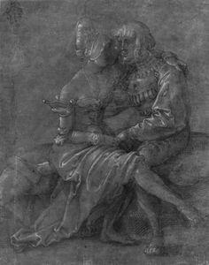 Baldung Grien, Hans: Dirne und Liebhaber, auf einer Bank c.1512