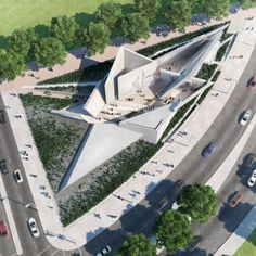 A design team featuring Daniel Libeskind and Edward Burtynsky has triumphed in a competition to design a National Holocaust Monument for Ottawa, Canada. Architecture Memorial, Architecture Design, Chinese Architecture, Futuristic Architecture, Landscape Architecture, Landscape Design, Architecture Office, Office Buildings, Triangular Architecture