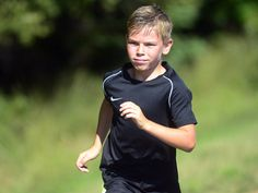 Is 10 too young to run a marathon? PEI marathon bars kid runner Tyler Heggie from race. Red Sand Beach, Marathon Running, 10 Year Old, Racing, Kid, Boys, Fitness, Sports, Running