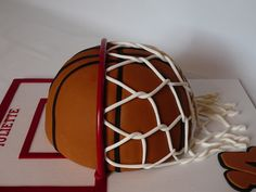 Basketball For Juliette A basketball cake for Juliette 14 years old. She plays basketball and she loves it. This is a marble cake with...
