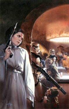 Princess Leia by Gabriele Dell'Otto