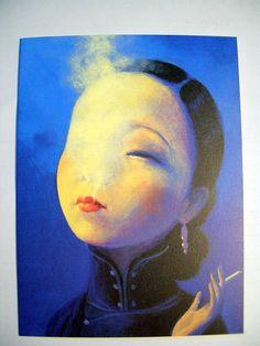 Liu Ye - Ruan Lingyu I    劉野 - 阮玲玉之一  45x60cm  2002  Acrylic on canvas