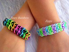 Rainbow Loom Bracelets Girls Women por PinkaliciousGirl en Etsy, $1.25