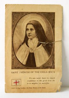 Relic St Therese of the Child Jesus Prayer by QueeniesCollectibles, $6.99