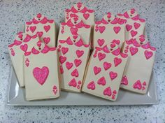hearts playing card cookies