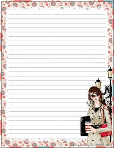 Made by Pecoranera Stationary Printable, Printable Lined Paper, Lined Writing Paper, Daily Planner Pages, Cute Journals, Journal Paper, Note Paper, Paper Decorations, Planner Stickers