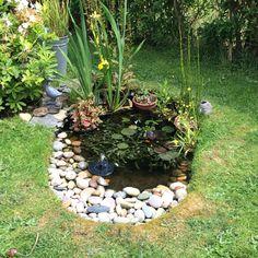 Pond Small Backyard Ponds, Ponds For Small Gardens, Fish Pond Gardens, Small Ponds, Backyard Landscaping, Garden Pond Design, Bog Garden, Water Garden, Lawn And Garden
