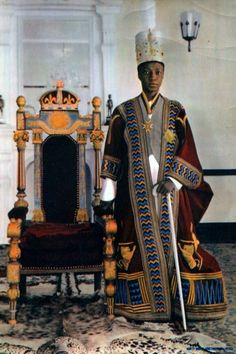 "Africa | ""His Highness Mutesa II.  The Kabaka of Buganda."" 