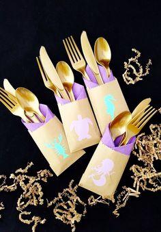 Cutlery Bags - Mermaid Party - Mermaid Birthday - Mermaid Baby - Mermaid Party Favors - Mermaid Baby Shower - Favor Bags - Beach Party - Bag