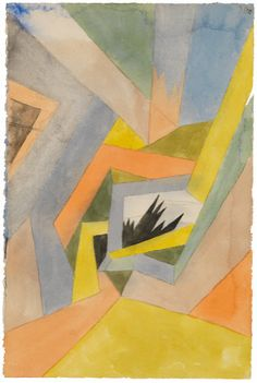 Collection Online | Paul Klee. The Idea of Firs (Die Idee der Tannen). 1917 - Guggenheim Museum