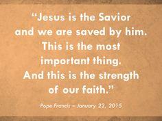 Jesus is always making intercession for us! Read more at: www.news.va/en/news/pope-francis-thursday-mass-in-santa-marta-2