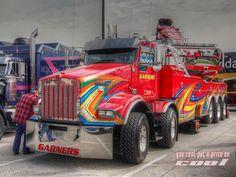 Wicked and mean hooker! Show Trucks, Big Rig Trucks, Old Trucks, Pickup Trucks, Peterbilt, Kenworth Trucks, Heavy Duty Trucks, Heavy Truck, Custom Big Rigs
