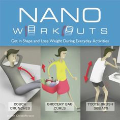 Get your fit on by trying a Nano Workout (or two!) for the #FBGChallenge. You can do them pretty much anywhere!