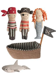 Pirate Ship and Rattle Friends by Maileg at Gilt