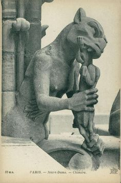 These images are some of the Gargoyles of Notre-Dame Cathedral in Paris with the images changed to those of various German identities associated with This is No The publisher is Edition Lorraine. Gothic Gargoyles, Notre Dame Gargoyles, Angels And Demons, Gothic Architecture, Gremlins, Green Man, Mythical Creatures, Dark Art, Dragons
