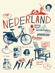 Nederland/the Netherlands, or Holland if you prefer. Poster Retro, Holland Netherlands, Netherlands Windmills, Dutch People, Going Dutch, Photo Images, Dutch Recipes, Thinking Day, Rotterdam