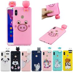 For Xiaomi Redmi Note 5 Pro/ Note 6 Cute Unicorn Bear Doll Soft Phone Case Cover Cell Phones For Sale, Bear Doll, Cute Unicorn, Nintendo Wii Controller, Silicone Gel, Note 5, Phone Covers, Cartoon, Iphone