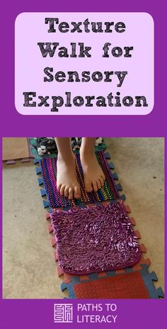 Texture walk for sensory exploration for children with special needs or multiple disabilities Sensory Room Autism, Sensory Activities For Autism, Activities For Autistic Children, Toddler Sensory Bins, Sensory Rooms, Infant Activities, Diy Sensory Toys For Toddlers, Autistic Toddler, Sensory Therapy
