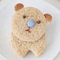 Pin for Later: Play With Your Food! 60 Fun Ways to Feed Your Kids Nutella Bear Sandwich An awe-inducing bear of a sweet sandwich! Source: Cute Food For Kids Cute Food, Good Food, Yummy Food, Cheddar, Food Humor, Cooking With Kids, Kid Friendly Meals, Creative Food, E Design