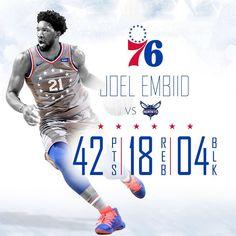 "08c63ba1b Philadelphia 76ers on Instagram  ""Big numbers for the big fella"""