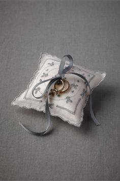Blue Buds Ring Pillow from BHLDN #ringbearer