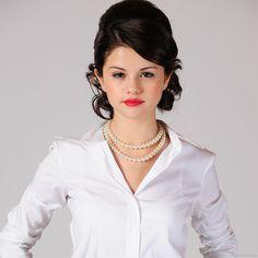 SELENA GOMEZ lipstick    Download Selena Gomez Red Lipstick And Pearl Necklace Wallpaper For ...