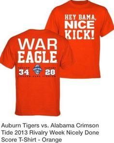 Alabama Crimson Tide 2013 Rivalry Week Nicely Done Score T-Shirt - Orange 86e305cb2