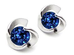 Original Star K(tm) Round 6mm Created Sapphire Flower Earring Studs in .925 Sterling Silver Star K. $59.98. Certificate of Authenticity Included with this item. Free Lifetime Warranty exclusively offered by Finejewelers. Free High End Jewerly Box and Gift Packaging. Star K. Designs are exclusive and protected by Copyright Laws. Guaranteed Authentic from the Star K designer line. Save 63% Off!