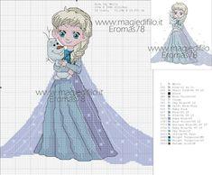 Elsa frozen x-stitch Frozen Cross Stitch, Just Cross Stitch, Cross Stitch Bookmarks, Beaded Cross Stitch, Cross Stitch Kits, Cross Stitch Charts, Disney Cross Stitch Patterns, Modern Cross Stitch Patterns, Cross Stitch Designs