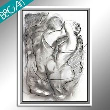 Black and white wall art famous couple print photo abstract nude portrait oil painting