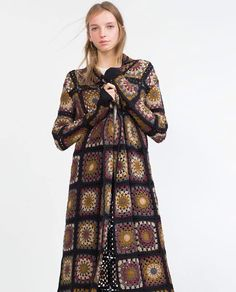 Crochet coat Zara AW 15