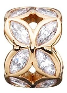 Story by Kranz & Ziegler Sterling Silver Gold Plated Cubic Zirconia Leaf Spacer Led, Jasper, Gold Rings, Jewelry Design, Rose Gold, Pure Products, Sterling Silver, Bracelets, Stuff To Buy