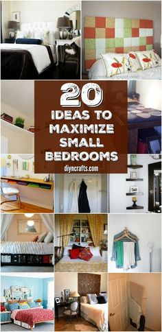 20 Space Saving Ideas and Organizing Projects to Maximize Your Small Bedroom via @vanessacrafting