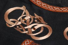Decorated black silk dress for a Viking lady. - Othala Craft