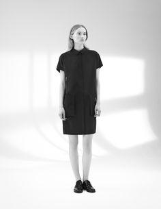 Chic Simplicity - black shirt dress; minimalist style // COS