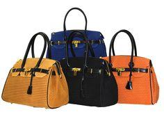 Caracol - Inspired Jewelry - Italian Leather Medium Sized Handbag w/Bombato Print by M Italian Leather Handbags, Stylish Handbags, How To Make Handbags, Inspired, Medium, Accessories, Stitch, Jewelry, Full Stop