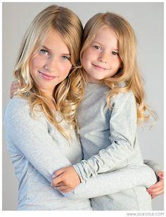 Sisters Portrait Siblings Pose