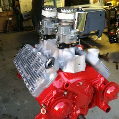 The flathead engine that is going into our 1950 Ford F1 Panel Truck... Willadean!