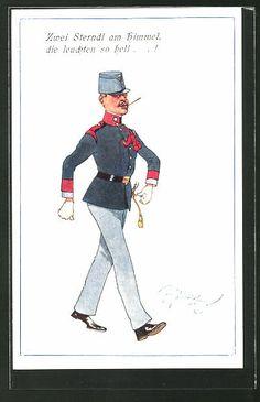 Austria, German Uniforms, Military Uniforms, Fritz, Austro Hungarian, Caricature, Battle, War, Baseball Cards