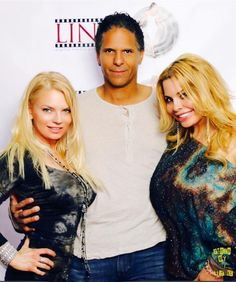With playboy model Stacy linde, and jewlery maker kristen pock
