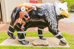 Native American Ancestry, Cherokee Indians, Bear Statue, Great Smoky Mountains, My Heritage, Cows, Shirt Jacket, North Carolina, Bears