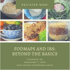 Cleveland FODMAP Workshop by Patsy Catsos September 7, 2018. Registration now open!