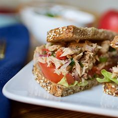 Make multiple servings of the tuna mixture in this recipe and use in sandwiches, salads and even tossed with cooked whole grain pasta.