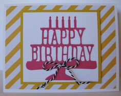 Barb Mann Stampin' Up! Demonstrator - SU - Happy Birthday Card - Party Pop-Up Thinlits