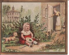 Victorian Advertising Trade Card Domestic Sewing Machine, Frog