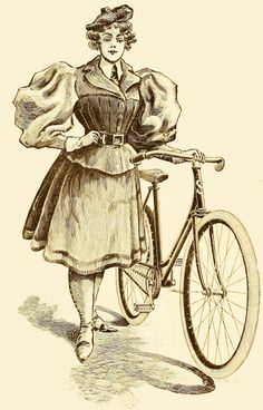 Mcintosh Huntington Company Sunol Bicycle ad, 1896 - now those are some impressive leg o' mutton sleeves! #Victorian #fashion #ads
