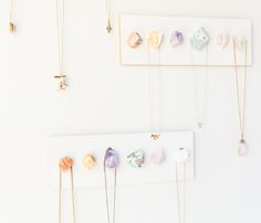 DIY Raw Crystal display necklace.