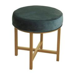 Shop for HomePop Round Ottoman with Jasper Velvet and Gold Metal X Base. Get free shipping at Overstock.com - Your Online Furniture Outlet Store! Get 5% in rewards with Club O!