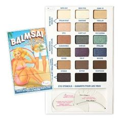 theBalm Balmsai Eyeshadow and Brow Palette with Shaping Stencils - 18 Colors 681619803925 | eBay