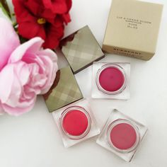 Burberry cheek and Lips. Beauty minimalism starts here. A pot rouge that can be applied to both cheek and lips is the perfect way to travel light. Shop the Burberry Lip & Cheek Blooms now. Eye Color, Lip Colors, Purple Tulips, Blusher, Travel Light, Im Not Perfect, Minimalism, Burberry, Bloom